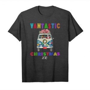 Get Now Van Life Christmas Bus Santa Labrador Dog Hippy Retro Shirt Unisex T-Shirt