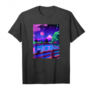Get Vaporwave Aesthetic Summer Night Kawaii Cat Tokyo Japan Unisex T-Shirt