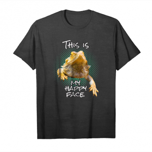 Cool This Is My Happy Face Bearded Dragon Funny Reptile T Shirt Unisex T-Shirt