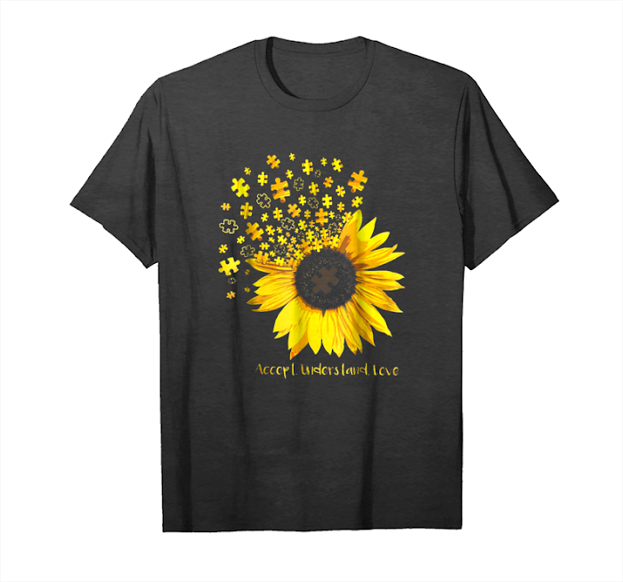 Buy Sunflower Accept Understand Love Autism Awareness Tshirt Unisex T-Shirt