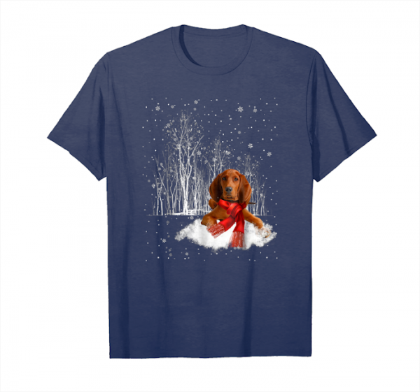 Order Now Redbone Coonhound Snow Christmas T Shirt  Redbone Coonhound Unisex T-Shirt