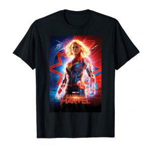 Trending Captain Marvel Movie Poster Suited Up Graphic T-Shirt