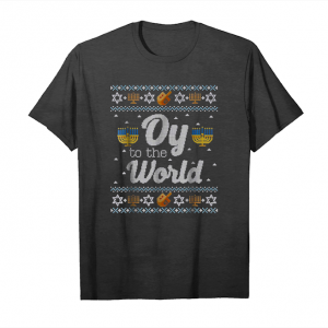 Buy Long Sleeve Shirt Funny Hanukkah Sweater Oy To The World Unisex T-Shirt