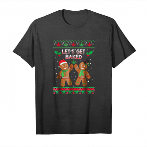 Get Now Lets Get Baked Stoner Christmas Long Sleeve Shirt Unisex T-Shirt
