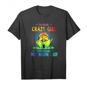 Cool I'm That Crazy Girl Who Loves Malone A Lot Tshirt Unisex T-Shirt