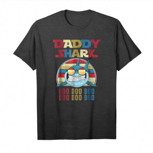 Cool Daddy Shark Vintage Retro Funny T Shirt For Dad Father Unisex T-Shirt