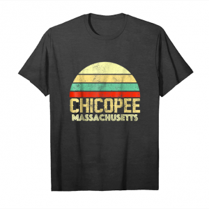 Buy Now Chicopee Ma Massachusetts Vintage Retro Sunset Tee T Shirt Unisex T-Shirt