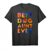 Buy Awesome Watercolor Art Gift   Best Dog Aunt Ever T Shirt Unisex T-Shirt