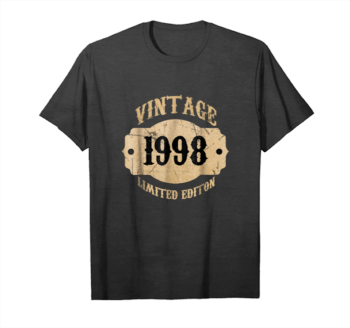 Get 1998 20 Years Old 20th B Day Limited Birthday Gift T Shirt Unisex T-Shirt