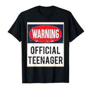 Get Now Funny 13th Birthday Gift Official Teenager T-shirt