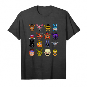 Order Now Five Nights At Freddys - Pixel Art - Multiple Characters Tshirt Unisex T-Shirt