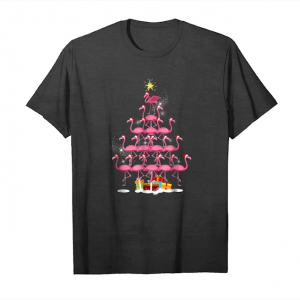 Order Now Santa Flamingo Christmas Tree Gift T Shirt Pink Women Girl Unisex T-Shirt