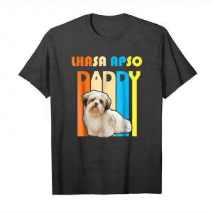 Trending Retro Vintage Daddy Lhasa Apso T Shirt  Father's Day Gift Unisex T-Shirt