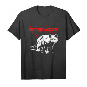 Buy Now Pet Sematary Church Cat Stare Paint Title Graphic T Shirt Unisex T-Shirt