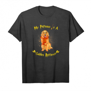 Buy My Patronus Is A Golden Retriever Dog Christmas T Shirt Unisex T-Shirt