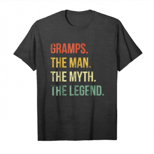 Trending Mens Gramps Man Myth Legend Shirt For Dad Father Grandpa Unisex T-Shirt
