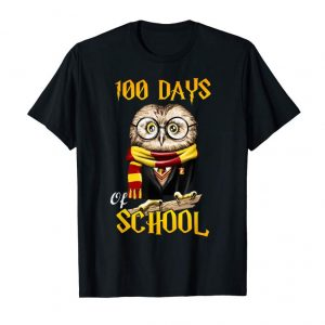 Cool Cute Owl 100th Day Of School T-shirt Magic Wizard Owl Tee