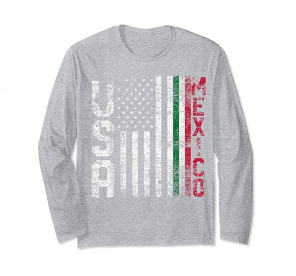 Buy Now Mexico T-Shirt - American USA Flag Mexican Flag Gift Idea