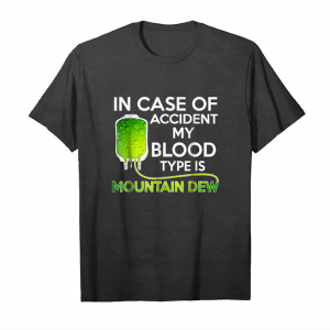 Buy In Case Of Accident My Blood Type Is Mountains T Shirt Dews Unisex T-Shirt