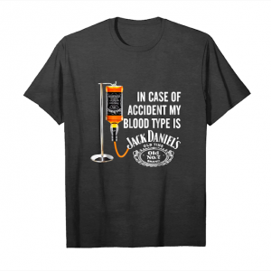 Trends In Case Of Accident My Blood Type Is Jack Daniel's Shirt Unisex T-Shirt