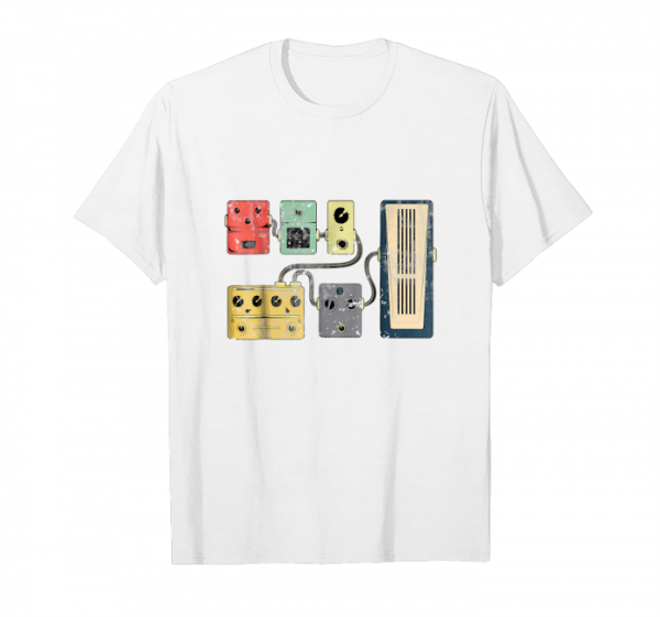 Trending Guitar Effects Pedal Retro Vintage Distressed Cool T Shirt Unisex T-Shirt