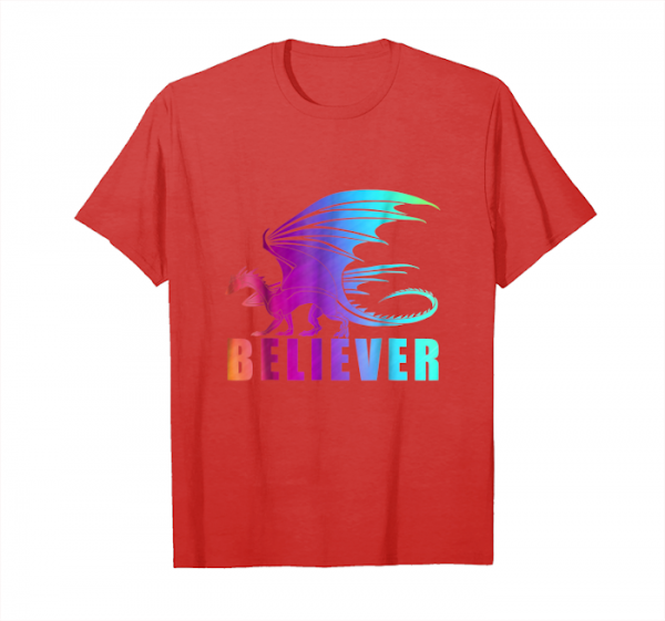 Trends Fantasy Dragon Believer Imagine T Shirt For Dragons Fans Unisex T-Shirt
