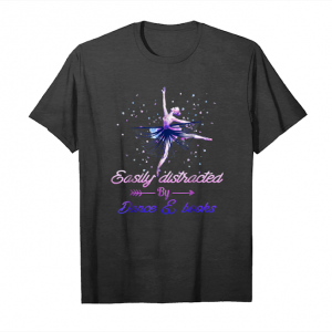 Trends Easily Distracted By Dance And Book T Shirt Unisex T-Shirt