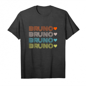 Cool Cute Bruno Lover Heart Shirt Man Women Unisex T-Shirt