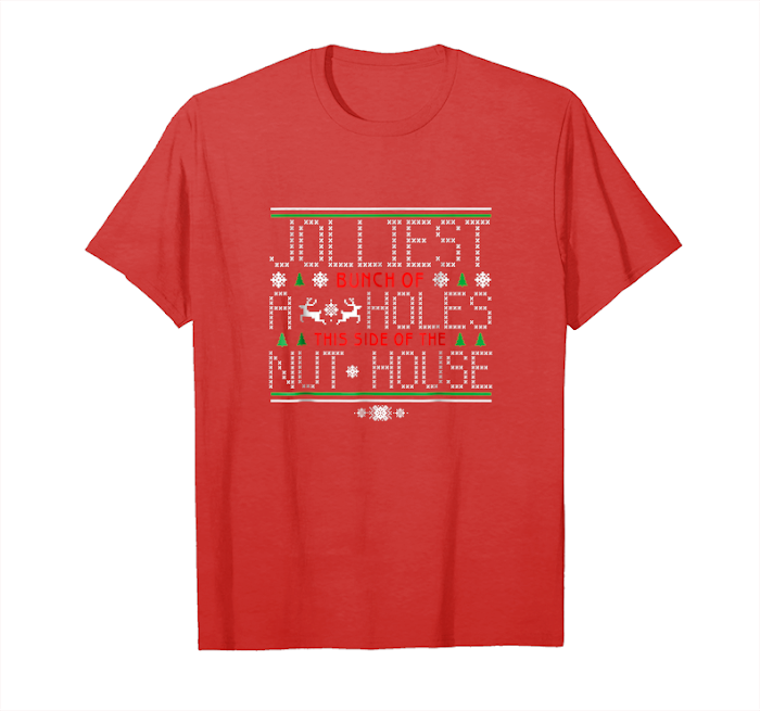 Men Jolliest Bunch of A Holes Funny Family Round Neck T-Shirts