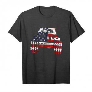 Trending Camping Jeep Lover American Usa Flag Car Drivers Gift Shirt Unisex T-Shirt
