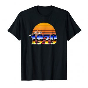 Cool RETRO AWESOME SINCE 1979 BIRTHDAY CELEBRATION T SHIRT