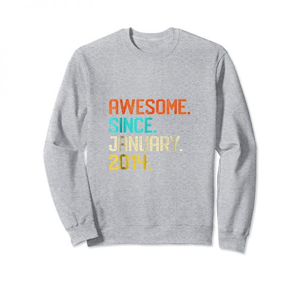 Get Now Kids Awesome Since January 2014 Shirt Retro 5th Birthday Girl Boy