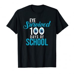 Buy Now Eye Survived 100th Day Of School T-Shirt Kids Student Tee