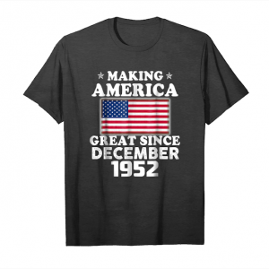 Cool 66th Birthday Making America Great Since December 1952 Tee Unisex T-Shirt