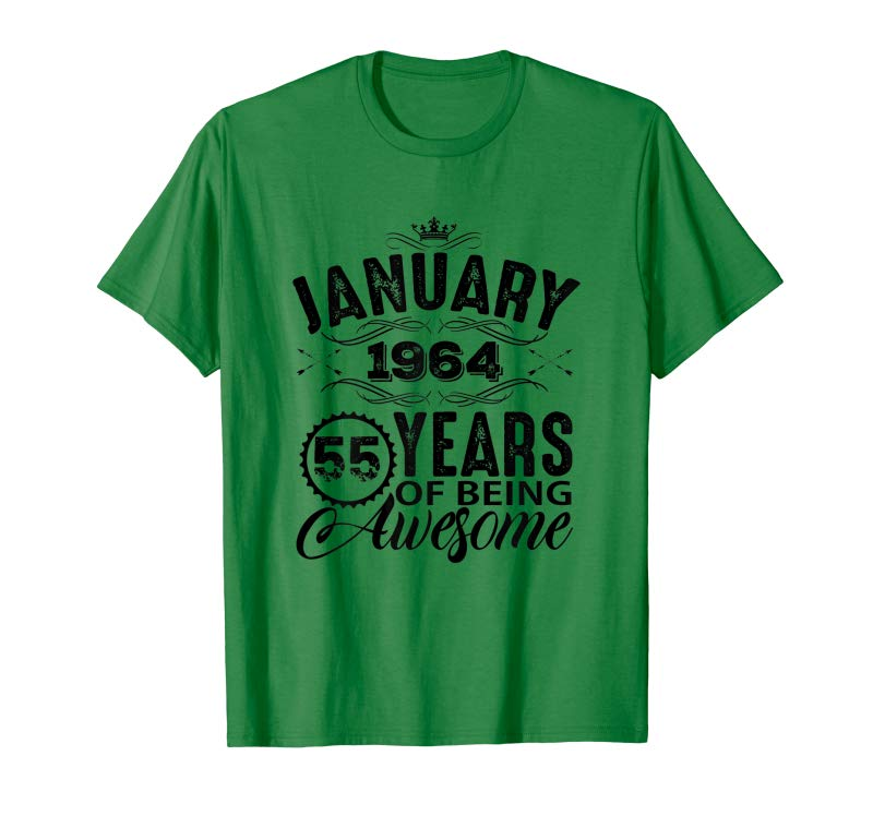 Get Womens January Woman T Shirt 1964 55th Birthday Gift Decorations