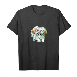 Order Shihtzu Watercolor Design T Shirt Shitzu Mom Dog Mom Gifts Unisex T-Shirt