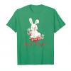 Get Now Run Away Scary Bunny Rabbit With Blood Skull Halloween Gift Unisex T-Shirt