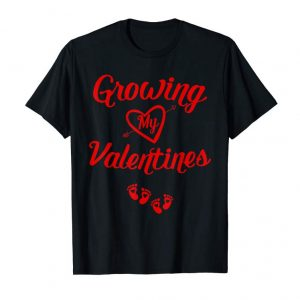 Buy Growing My Valentine Tshirt Twin Pregnancy Announcement