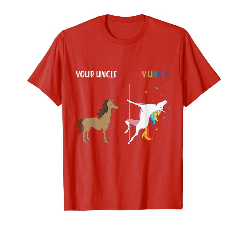 e093c56f51 Trending Your Uncle My Uncle Unicorn Funny LGBT Gay Pride T-shirt ...