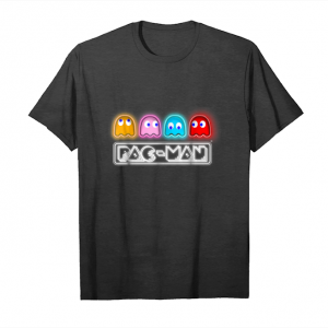 Trending Pac Man Neon Sign Ghosts Graphic T Shirt Unisex T-Shirt