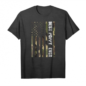 Order Mens Best Poppy Ever American Flag Camo T Shirt Fathers Day Gift Unisex T-Shirt