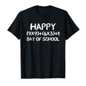 Trending Math Formula 100 Days Of School T-shirt Teacher Gift 2019