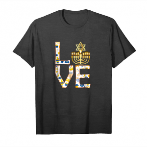 Buy Now Jewish Love Hanukkah Star Of David Heart T Shirt Funny Gift Unisex T-Shirt