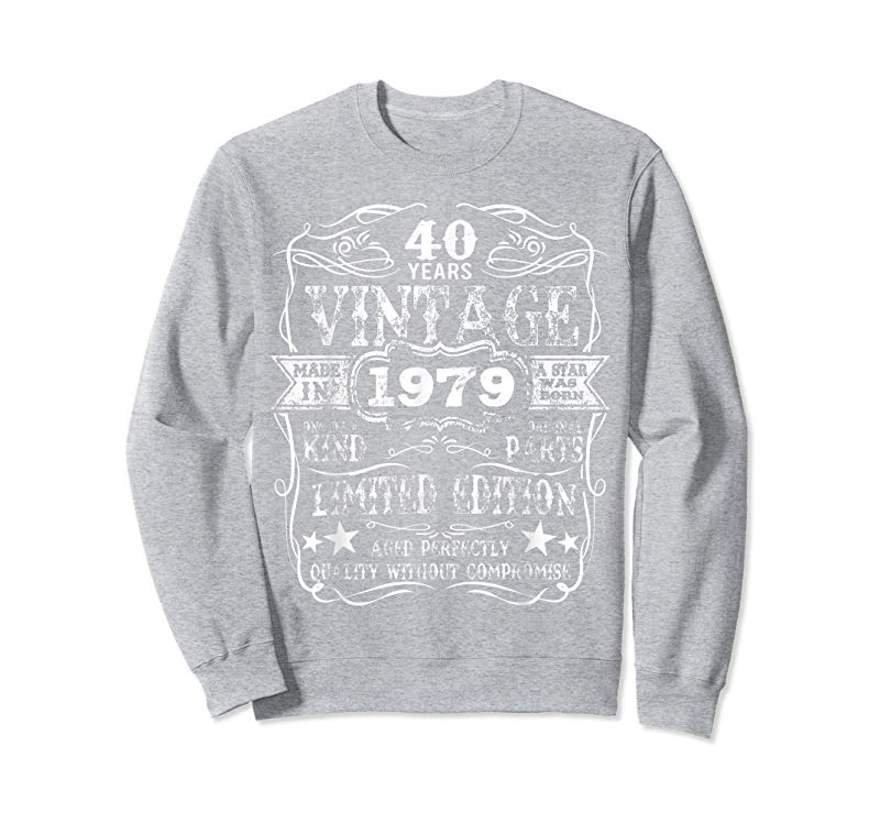 Order Now Made In 1979 40 Years Old Vintage 40th Birthday Gift T Shirt