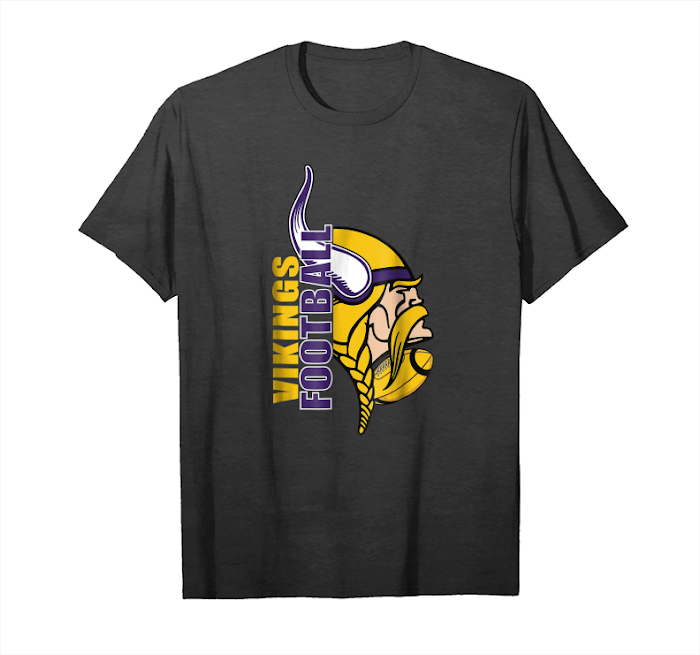 Get Funny Viking With A Giant Football Minnesota T Shirt Unisex T-Shirt