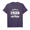 Buy Age Shirt Made In 1928 90th Years Old 90 Birthday Gift Unisex T-Shirt