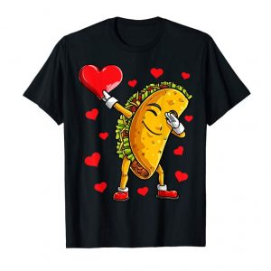 Order Dabbing Taco Heart T Shirt Valentines Day Boys Food Lovers