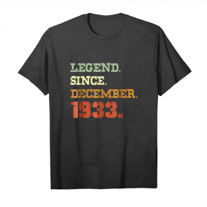 Buy Now 85th Birthday Gift 85 Years Old Legend Since December 1933 Unisex T-Shirt