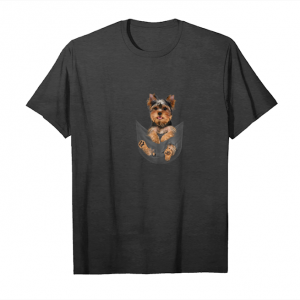 Cool Yorkshire Terrier Baby In Bag Unisex T-Shirt
