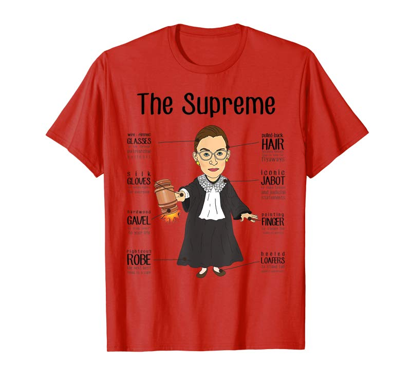 8e49f82c32aa Buy THE SUPREMES Supreme Court Justices RBG Cute T-Shirt - Tees.Design